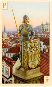 Tarot of Prague Page of Swords